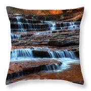 Waterfall Cascade North Creek Throw Pillow by Bob Christopher