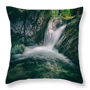 waterfall Throw Pillow by Stylianos Kleanthous
