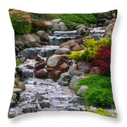 Waterfall Throw Pillow by Tom Prendergast