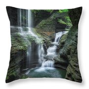 Watkins Glen Throw Pillow by Bill Wakeley