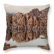 Watson Lake Tranquility Throw Pillow by Angie Schutt
