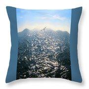Wave Throw Pillow by Ben and Raisa Gertsberg