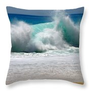 Wave Throw Pillow by Karon Melillo DeVega