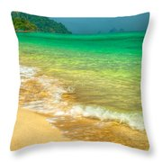 Waves Throw Pillow by Adrian Evans