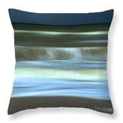 Waves Throw Pillow by Bernard Jaubert