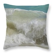 Waves Throw Pillow by Cheryl Young