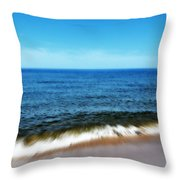 Waves In Motion Throw Pillow by Michelle Calkins