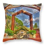 Wayfarers Chapel Throw Pillow by Heidi Smith