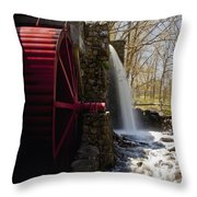 Wayside Grist Mill 2 Throw Pillow by Dennis Coates
