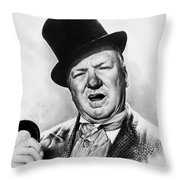 Wc Fields My Little Chickadee Throw Pillow by Andrew Read