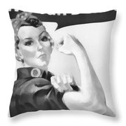 We Can Do It Throw Pillow by Dan Sproul