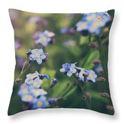 We Lay With The Flowers Throw Pillow by Laurie Search