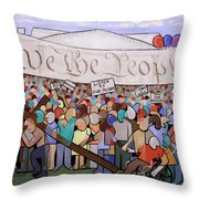 We The People Throw Pillow by Anthony Falbo