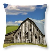 Weathered Barn Palouse Throw Pillow by Carol Leigh