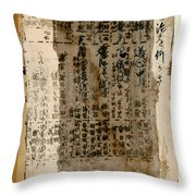 Weathered Pages Throw Pillow by Carol Leigh