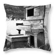 Weathered Piano Throw Pillow by Mike McGlothlen