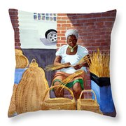 Weaving Throw Pillow by Julia Rietz
