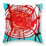Web Of Life Original Painting Throw Pillow by Sol Luckman