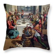 Wedding At Cana Throw Pillow by Andrea Boscoli