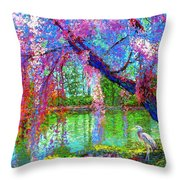Weeping Beauty Throw Pillow by Jane Small