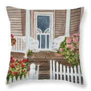 Welcome Throw Pillow by Regan J Smith