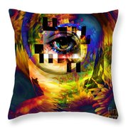 Welcome To 3rd Annex Throw Pillow by Elizabeth McTaggart