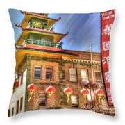 Welcome To Chinatown Throw Pillow by Juli Scalzi