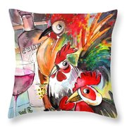 Welcome To Italy 08 Throw Pillow by Miki De Goodaboom