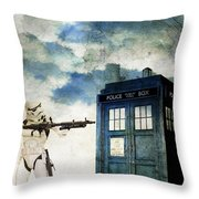 Welcome To The Time Wars Throw Pillow by Angelica Smith Bill
