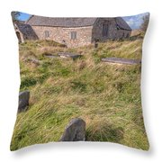 Welsh Tombs Throw Pillow by Adrian Evans