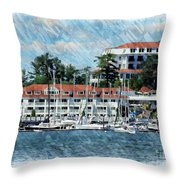 Wentworth By The Sea Throw Pillow by Marcia Lee Jones