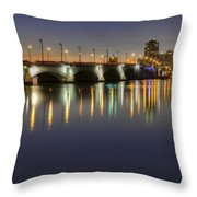 West Palm Beach At Night Throw Pillow by Debra and Dave Vanderlaan