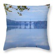 West Trenton Railroad Bridge Throw Pillow by Bill Cannon