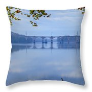West Trenton Railroad Bridge Throw Pillow by Bill Cannon