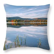 West Twin Lake Throw Pillow by Bill  Wakeley