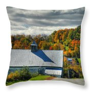 Western Maine Barn Throw Pillow by Alana Ranney