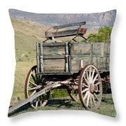 Western Wagon Throw Pillow by Sabrina L Ryan
