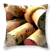 What A Corker Throw Pillow by Elaine Plesser