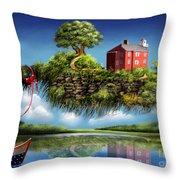 What A Wonderful World Throw Pillow by Turquoise Brush