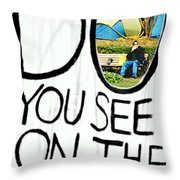 What Do You See On The Other Side Throw Pillow by Valentino Visentini