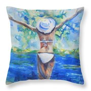 What Lies Ahead Series Forgive Throw Pillow by Chrisann Ellis