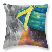 What Lies Ahead Series....chaos Throw Pillow by Chrisann Ellis