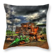 Wheat Field Fire 2 Throw Pillow by Reid Callaway