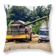Wheat Harvest Throw Pillow by Georgia Fowler