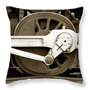 Wheel Power Throw Pillow by Olivier Le Queinec