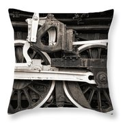 Wheels And Rods Throw Pillow by Olivier Le Queinec