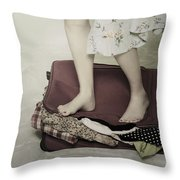 When A Woman Travels Throw Pillow by Joana Kruse