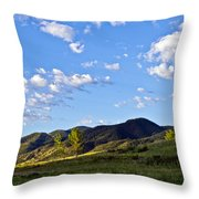 When Clouds Meet Mountains Throw Pillow by Angelina Vick