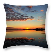WHEN HEAVEN BLANKETS the EARTH Throw Pillow by KAREN WILES