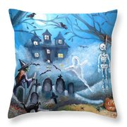 When October Comes Throw Pillow by Shana Rowe Jackson